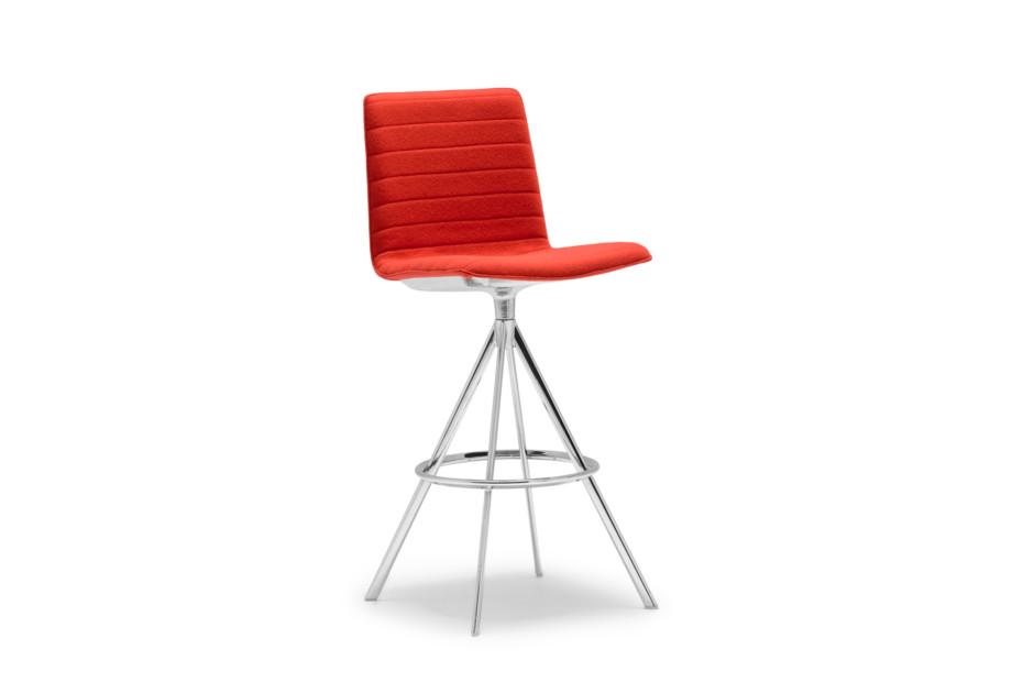 Flex stool with swivel base high back