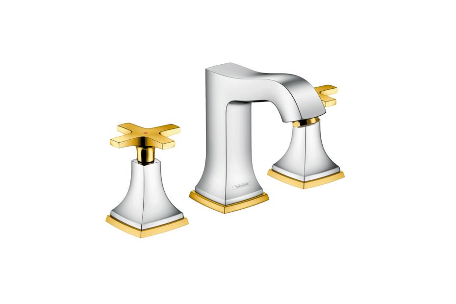 Metropol Classic 3-hole washbasin cross