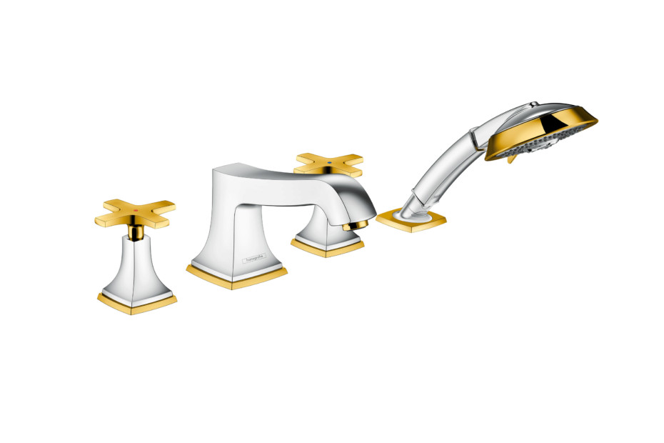 Metropol Classic 4-hole bath mixer cross