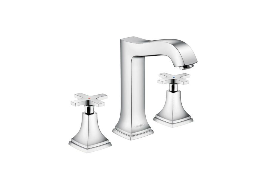 Metropol Classic 3-hole washbasin cross high
