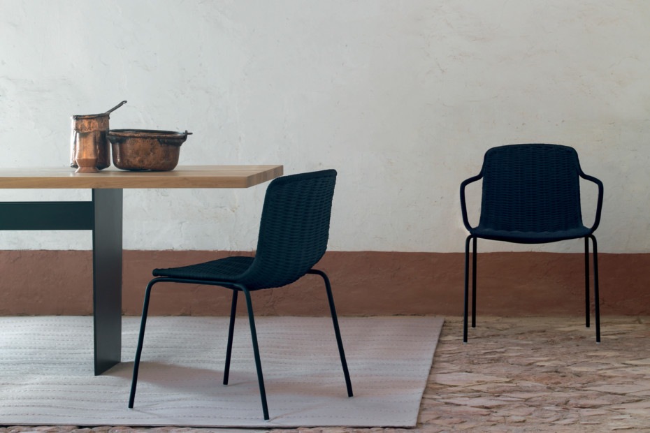 Lapala hand-woven dining armchair C596 T