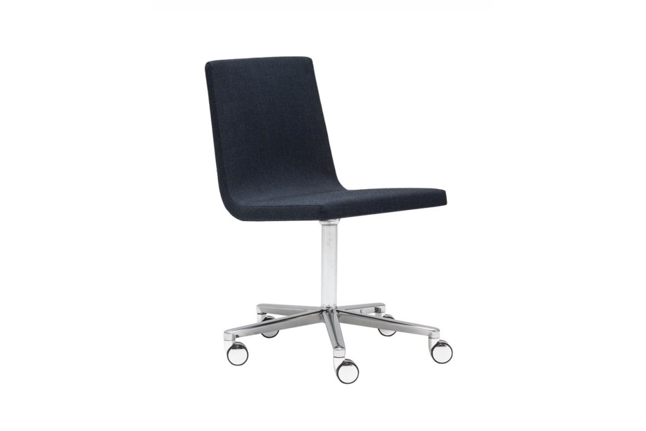 Lineal Comfort chair with castors