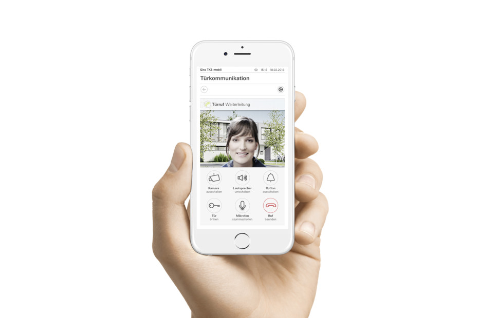 Gira mobile door communication
