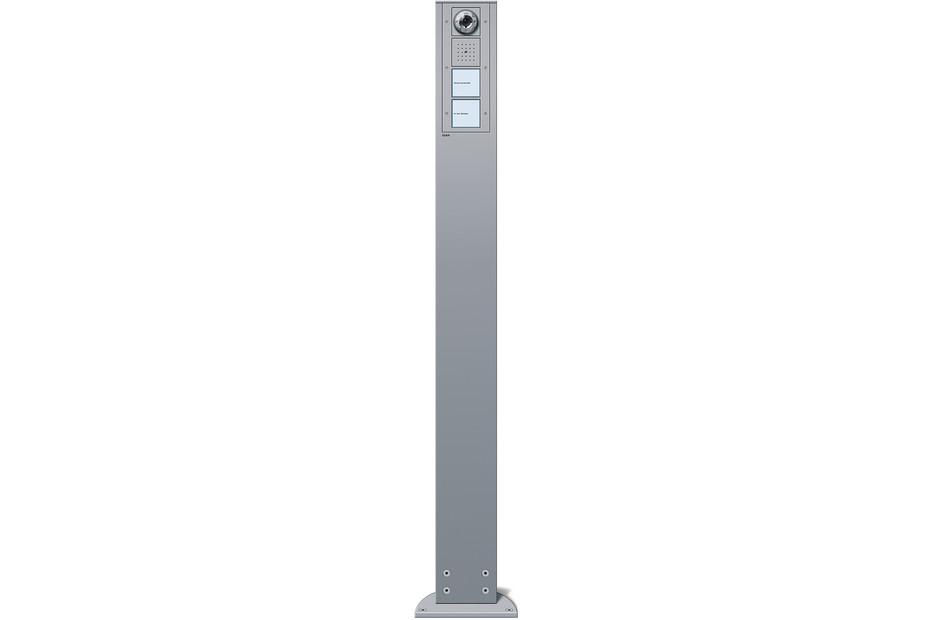 Energiesäule mit Türstation und Farbkamera