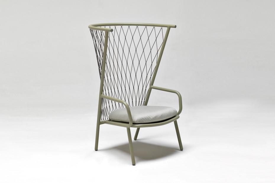 Nef High-back armchair