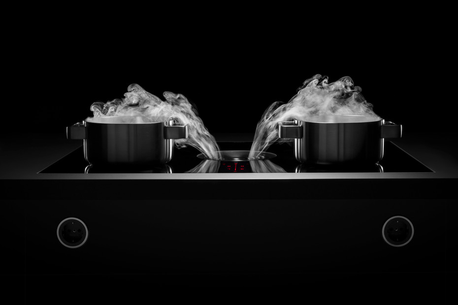 BORA Pure -Induction glass ceramic cooktop with integrated cooktop extractor - Recirculation PURU