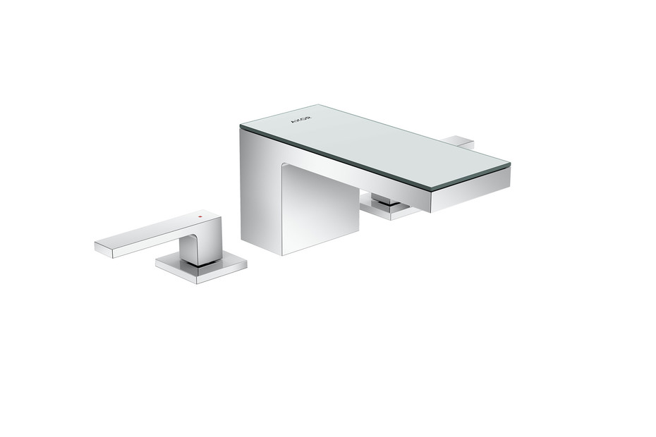 Axor MyEdition 3-hole basin mixer 70 with push-open waste set