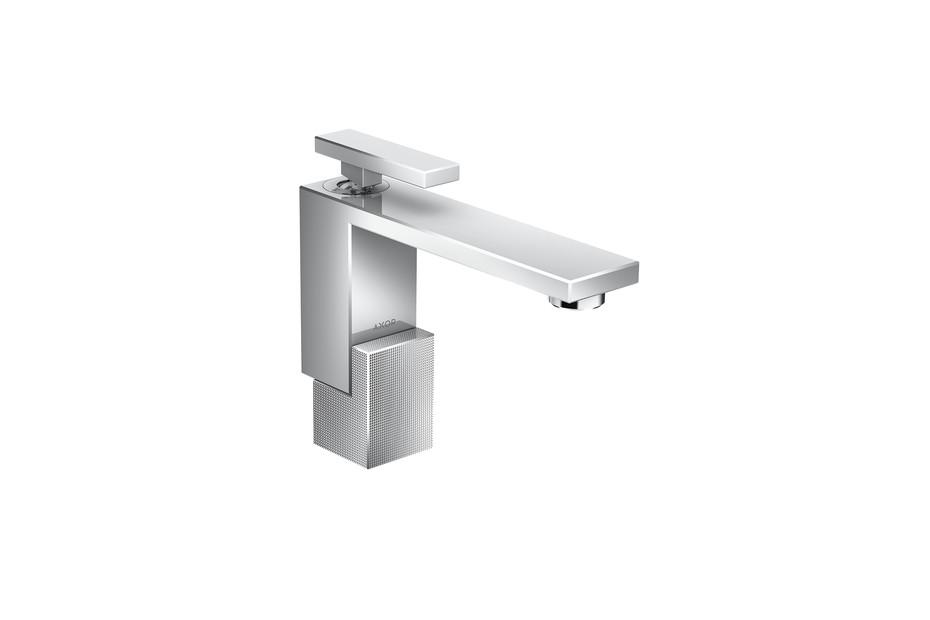 Axor Edge Single lever basin mixer 130 with push-open waste set - diamond cut