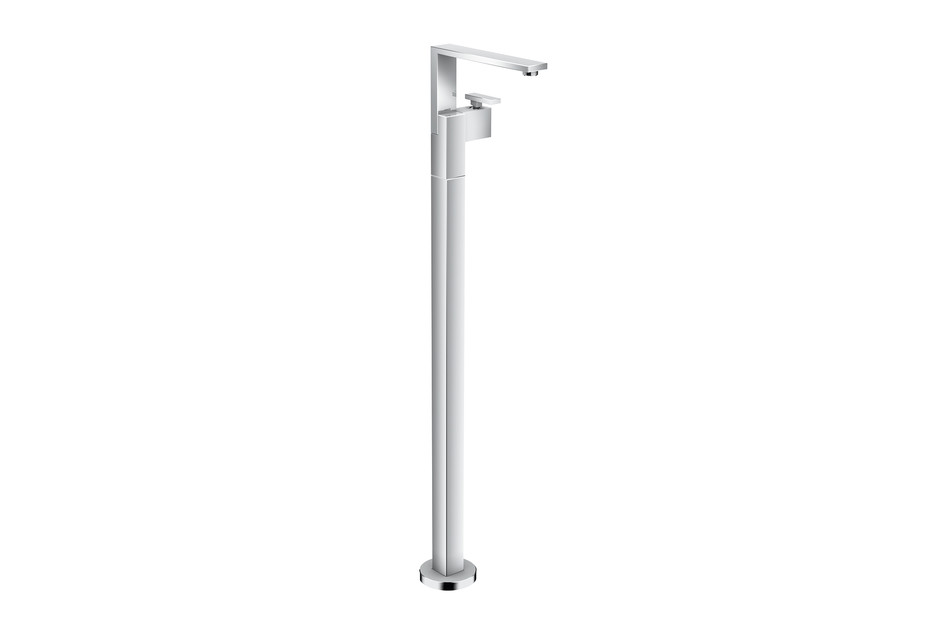 Axor Edge Single lever basin mixer floor-standing with push-open waste set