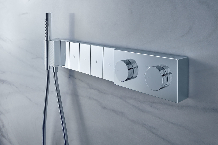 Axor Edge Thermostatic module Select 680/100 for 5 functions for concealed installation - diamond cut