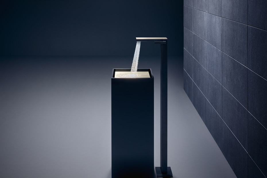 Axor MyEdition Single lever basin mixer floor-standing with push-open waste set