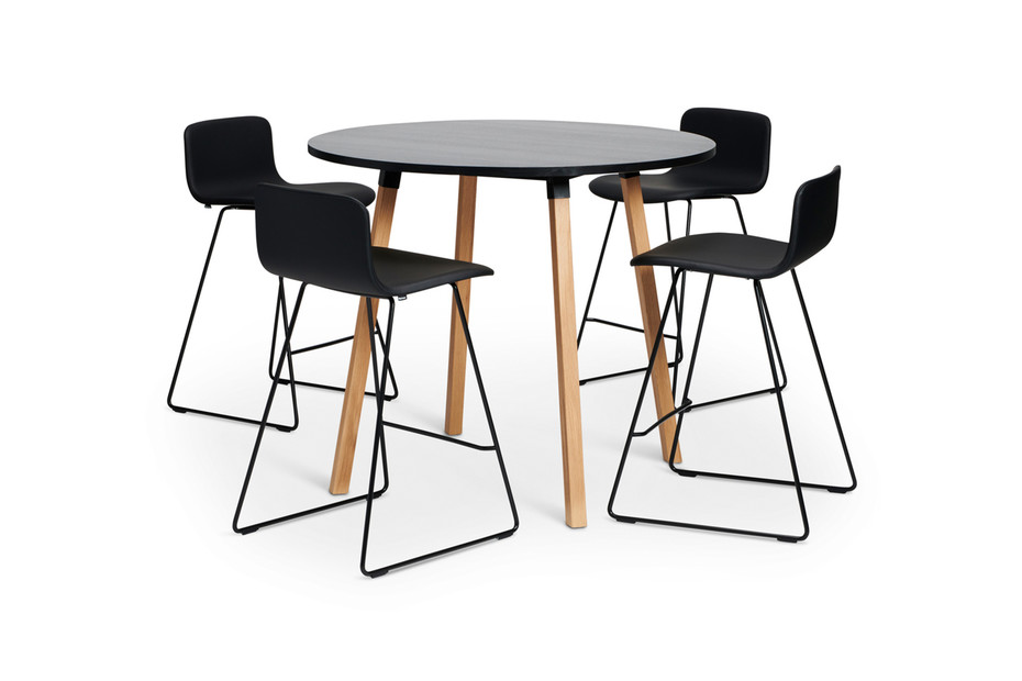 Alku conference table wooden legs