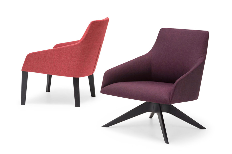 Alya lounge chair with 4-legged base low back