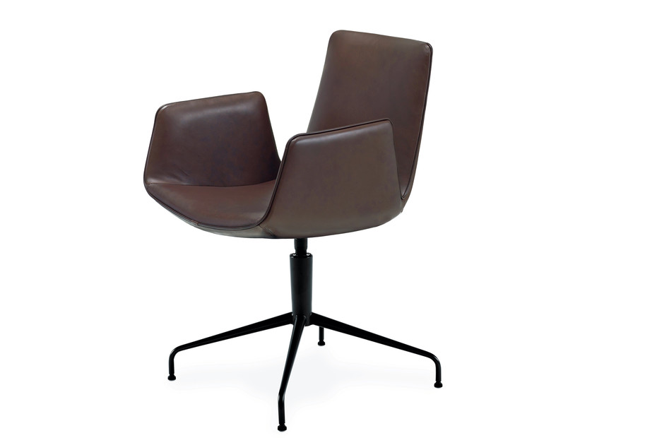 Amelie armchair with trestle leg