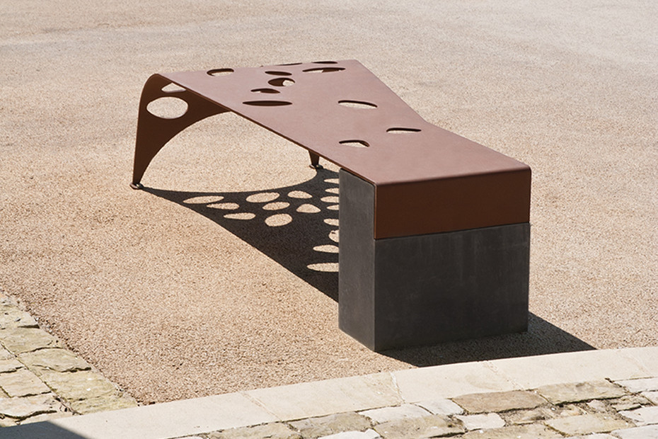 Green Palacio bench without back rest