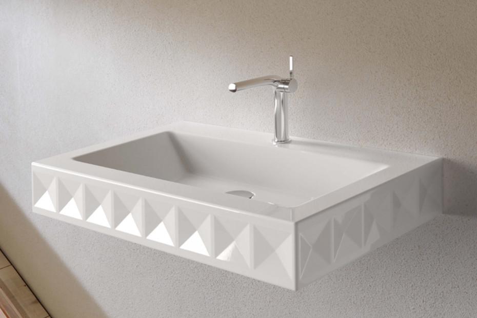 BETTELOFT ORNAMENT Midnight wall mounted washbasin