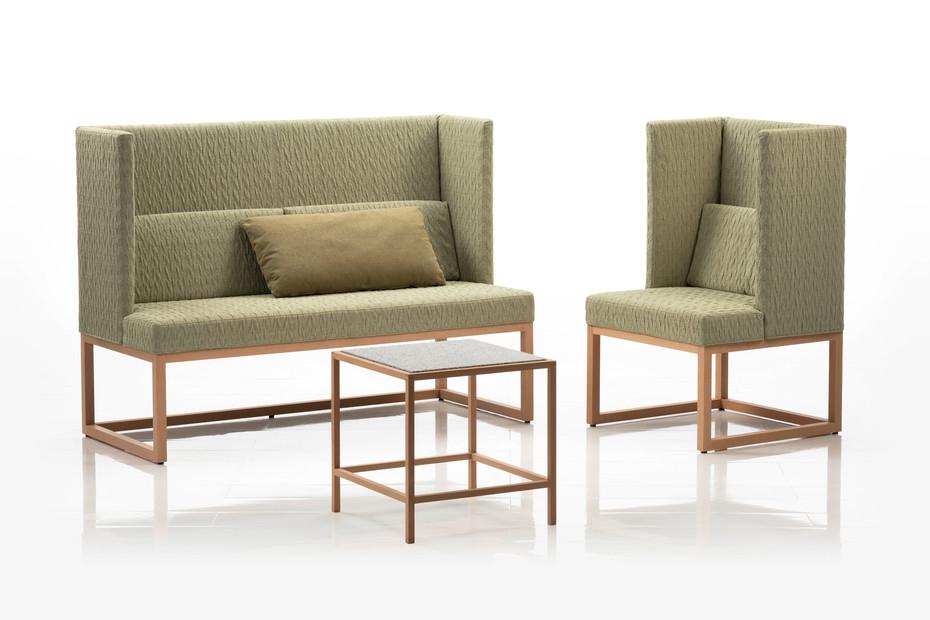 Belami armchair with high backrest