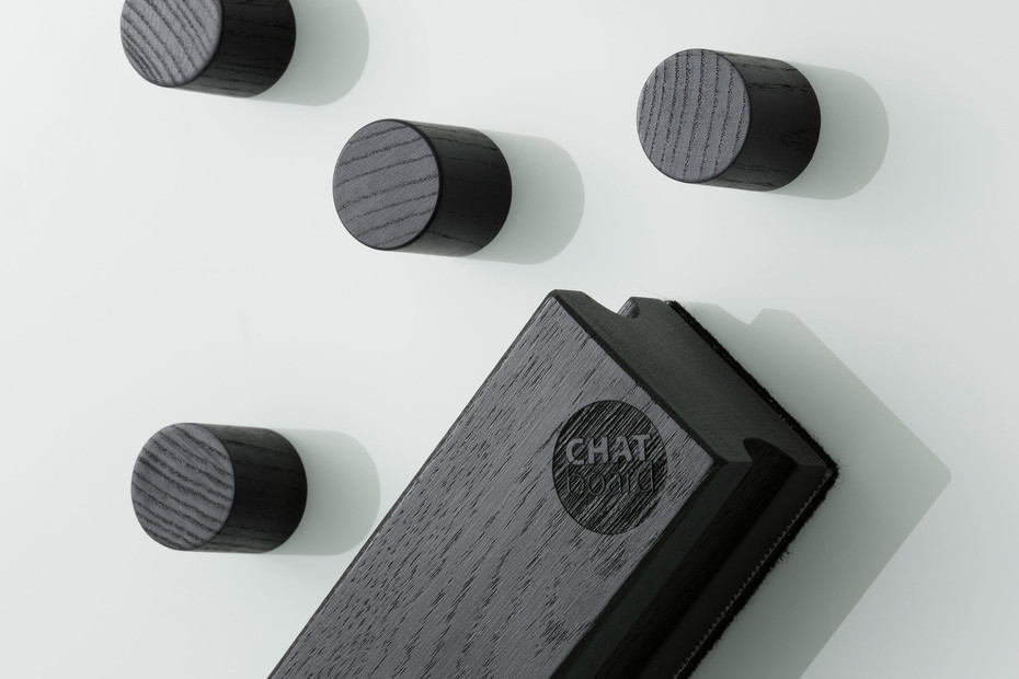 CHAT BOARD® Woody Eraser Black