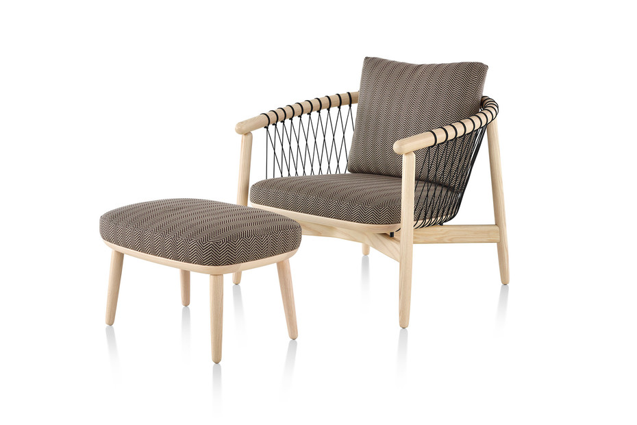 Crosshatch Chair and Ottoman