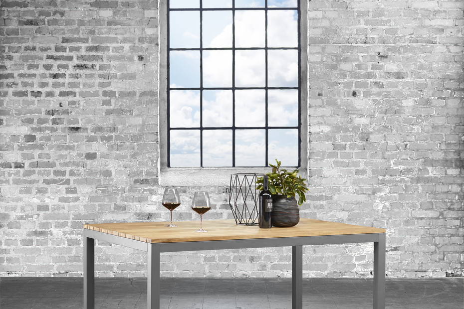Classic stainless steel extending table