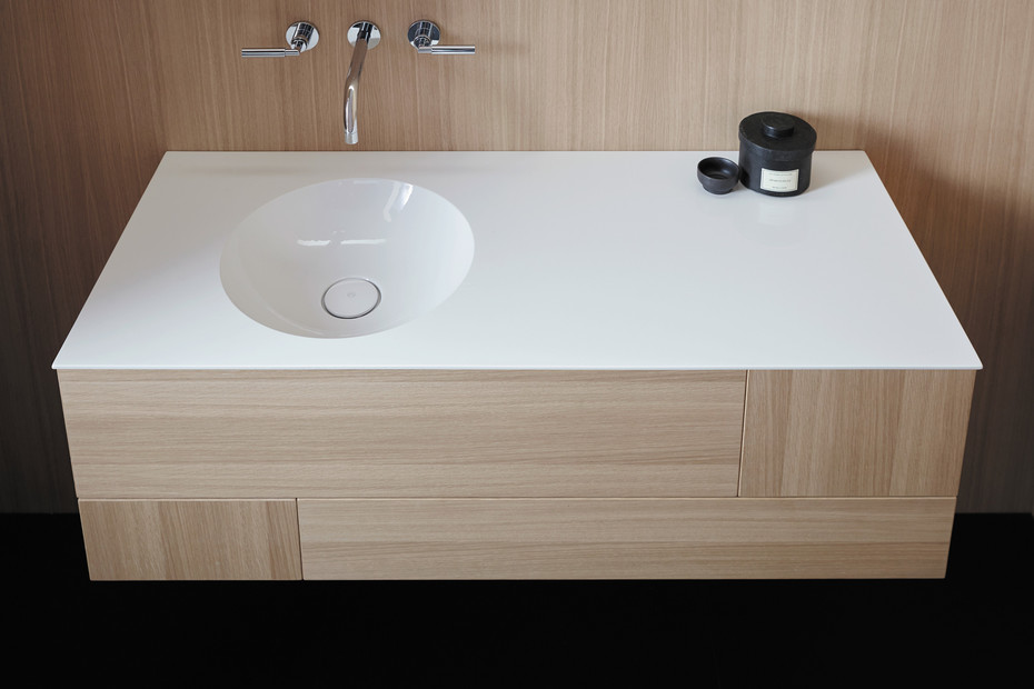 Coco mineral cast washbasin incl. vanity unit