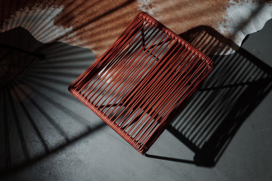 Acapulco Taburete Leather Cognac
