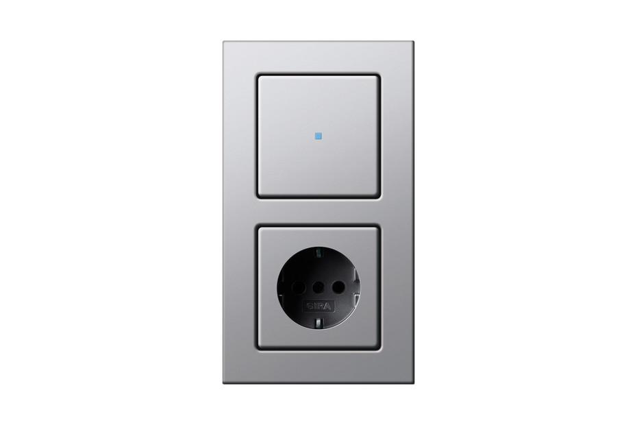E22 Tast-Kontrollschalter/Steckdose