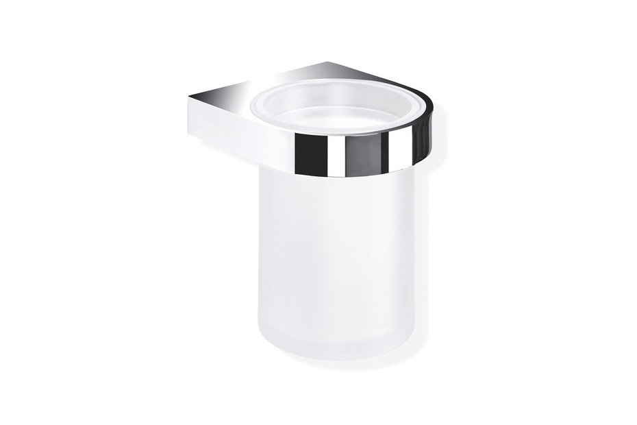 Glass tumbler with holder