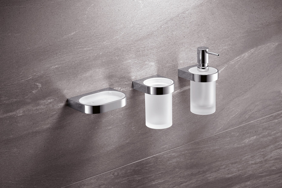 Soap dish with holder