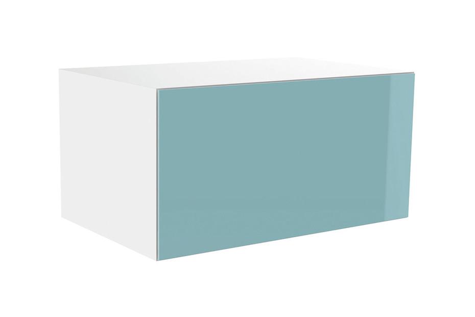 High-lift cabinet glass front aqua
