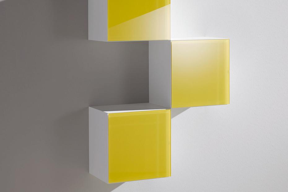 Basic module glass front yellow