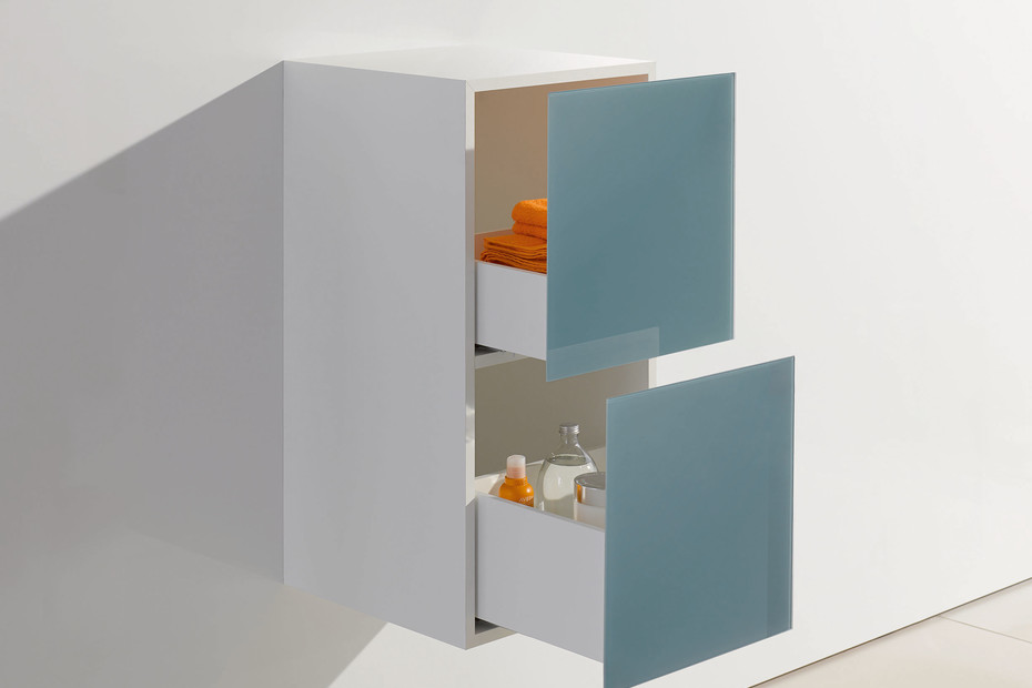Basic module glass front aqua