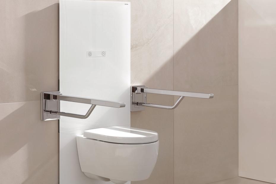 WC module white, manual flushing panel