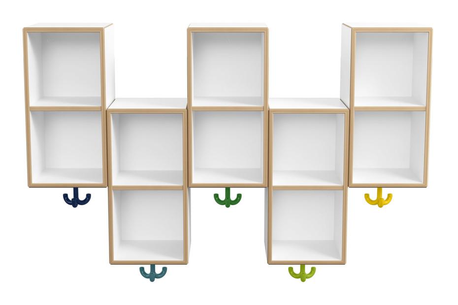 Double module asymmetric, 5 places with triple hooks