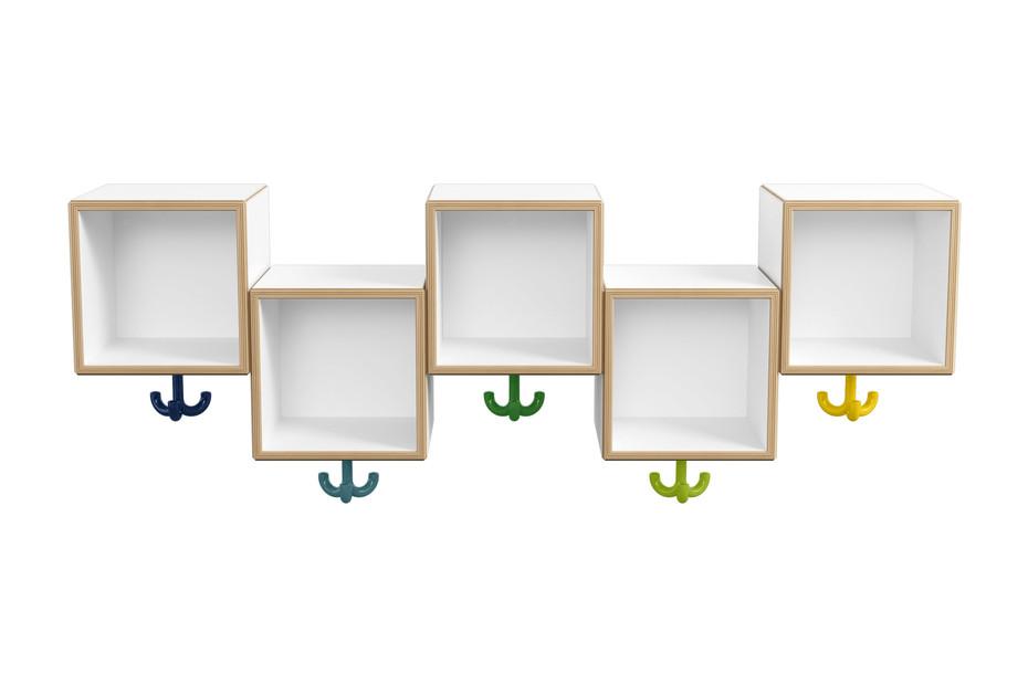 Asymmetric row module, 5 places with triple hooks
