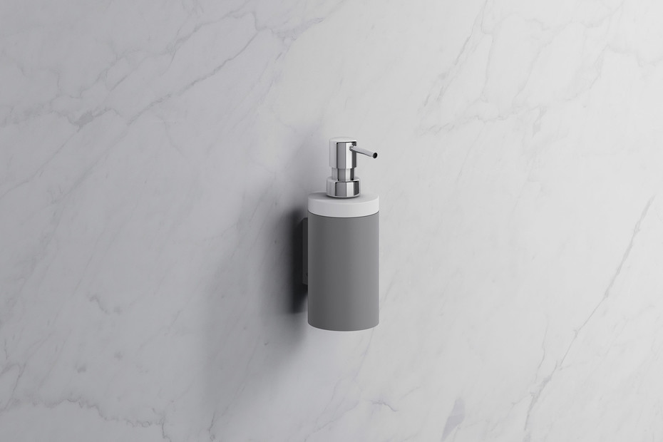 Soap dispenser with holder
