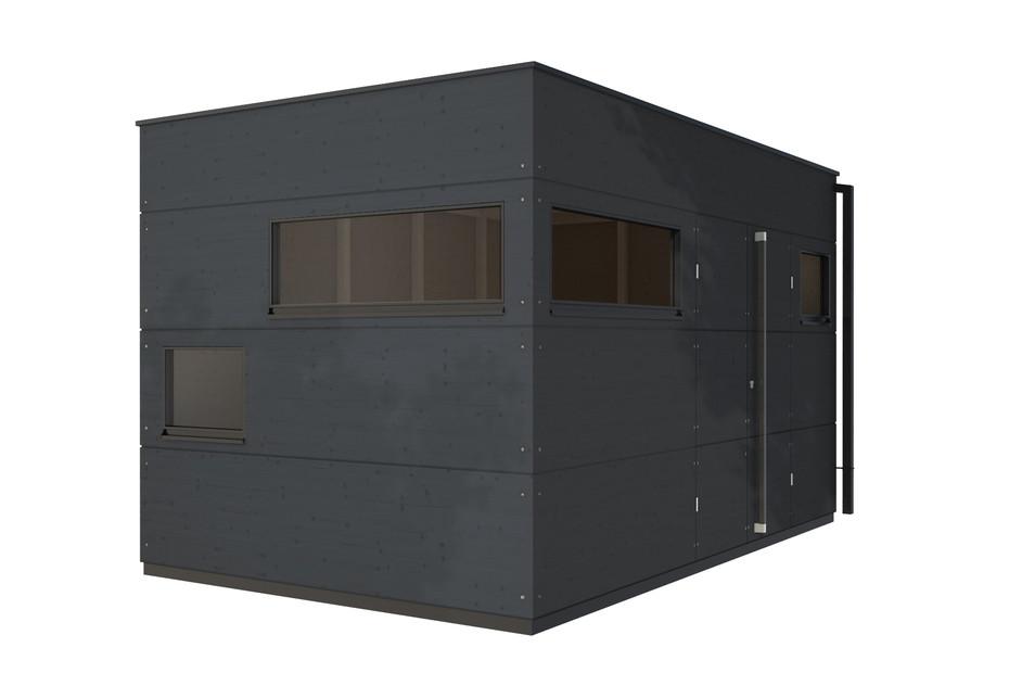 Garden shed flat roof XL