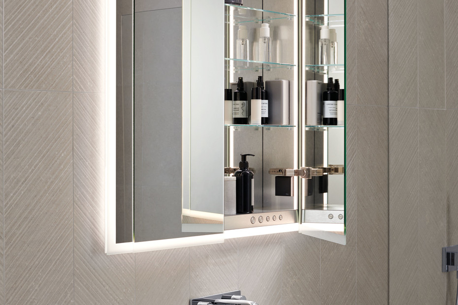 Geberit ONE mirror cabinet with lighting