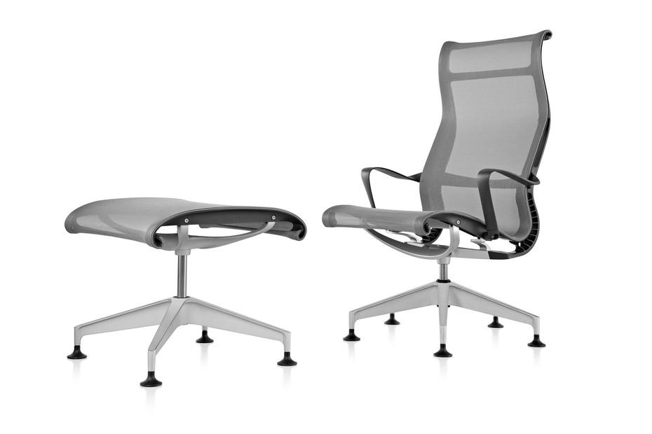 Setu Lounge Chair und Ottoman
