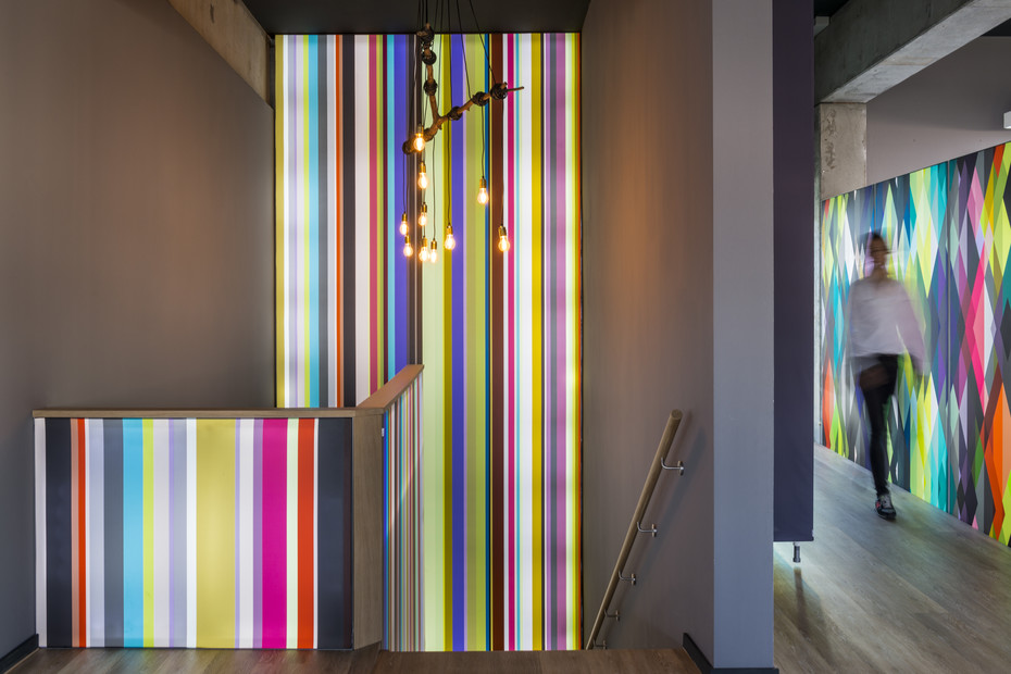 Lightbox wall installation