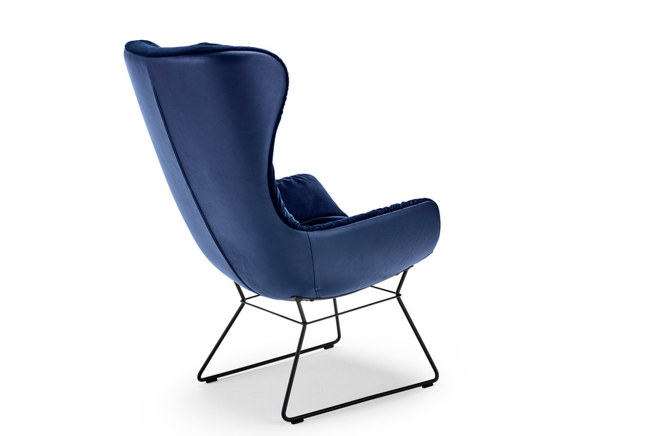 Leya Cocktail Wingback Chair mit Drahtgestell