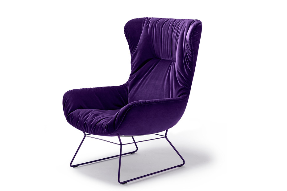 Leya Wingback Chair mit Drahtgestell