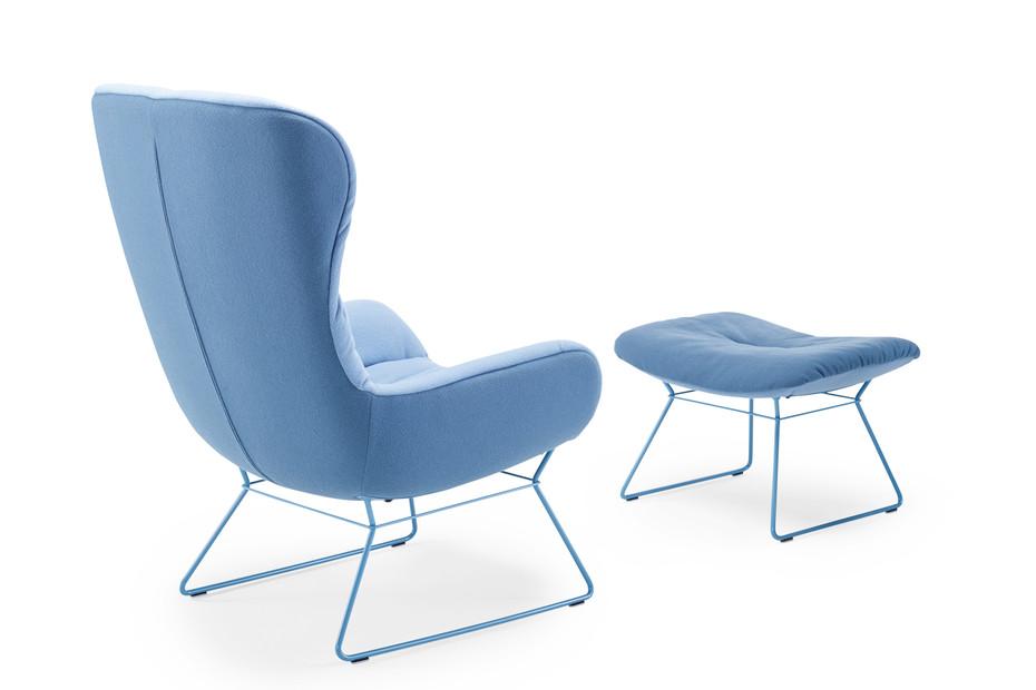 Leya Wingback Chair mit Drahtgestell
