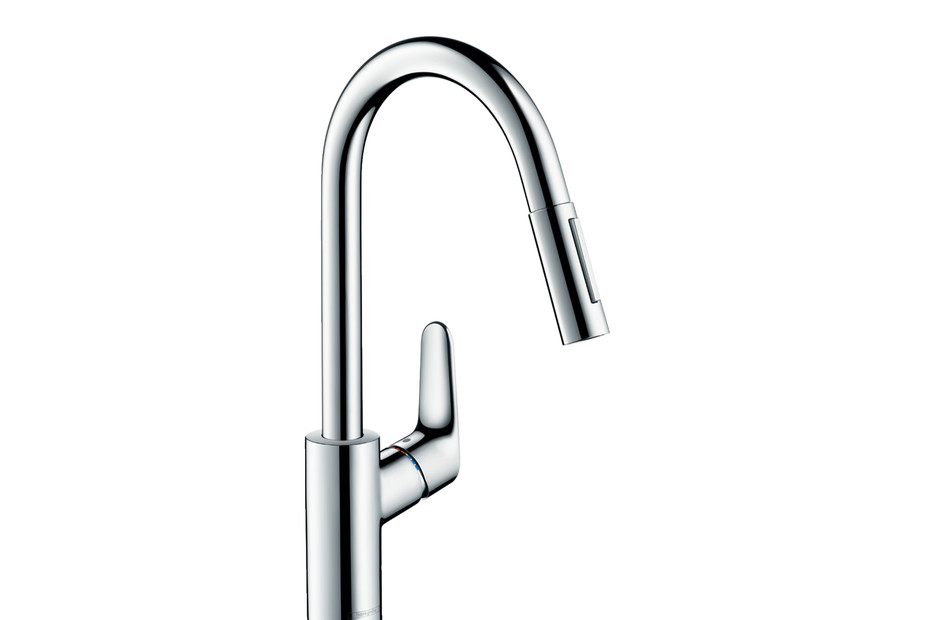 M41 M4116-H240 single lever kitchen mixer 240 with pull-out spray
