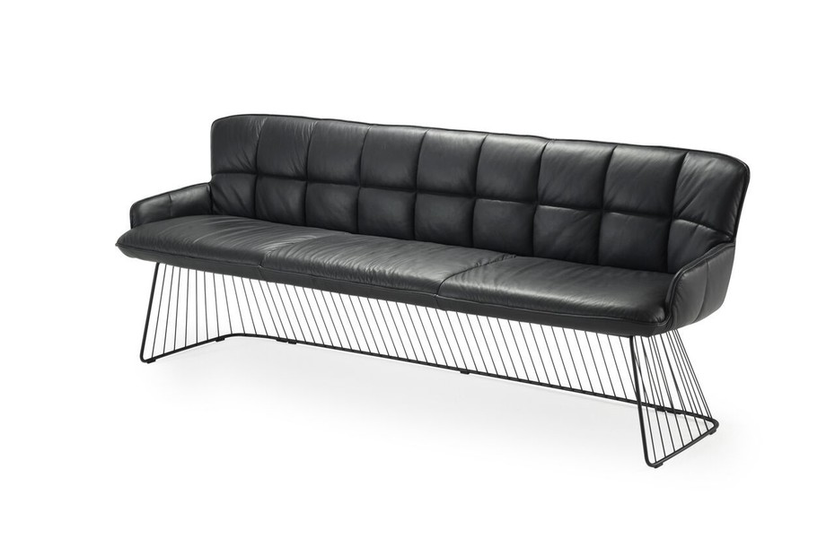 Marla Bench with harp frame