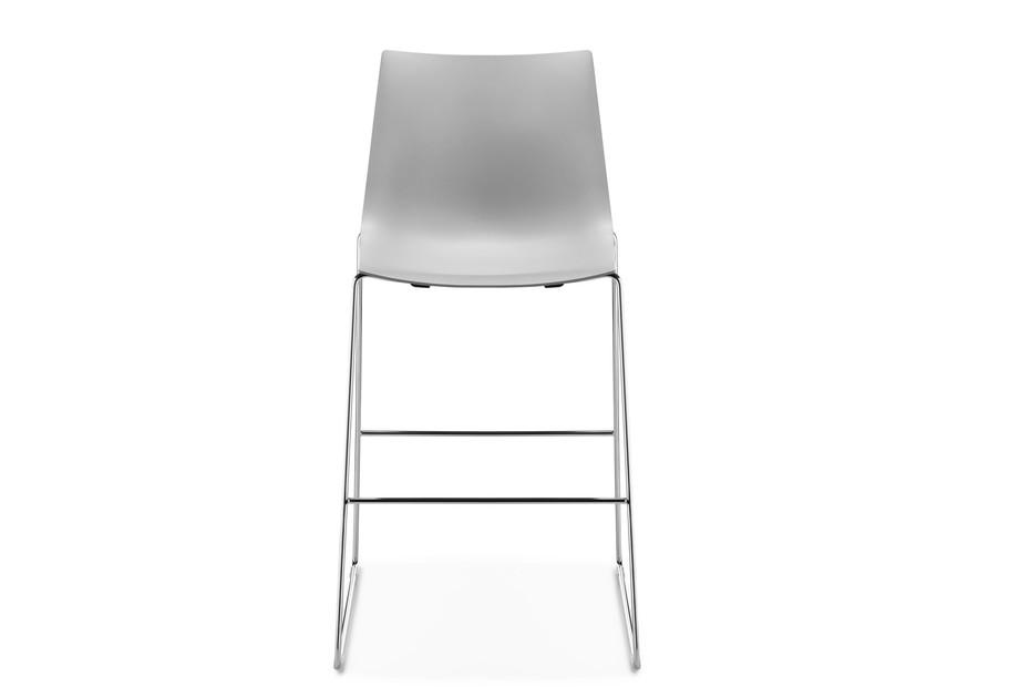 Nava high skid-frame chair
