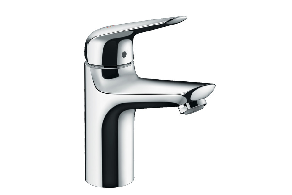 Novus Single lever basin mixer 100 CoolStart with push-open waste set