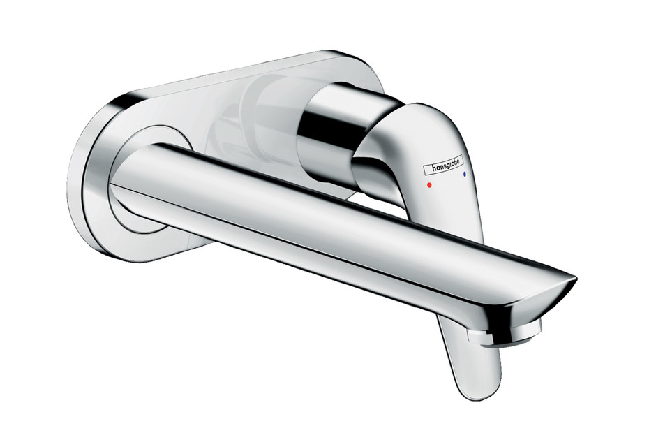 Novus single-lever flush-mounted basin mixer for wall mounting with spout 19,5 cm
