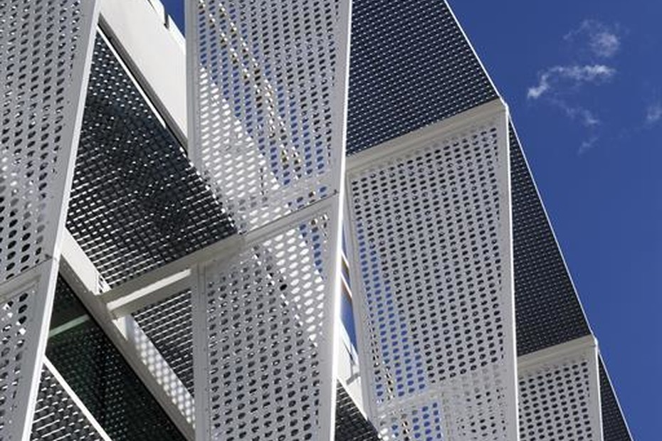 Perforated Panels for sun screens, SCA complex in Göteborg