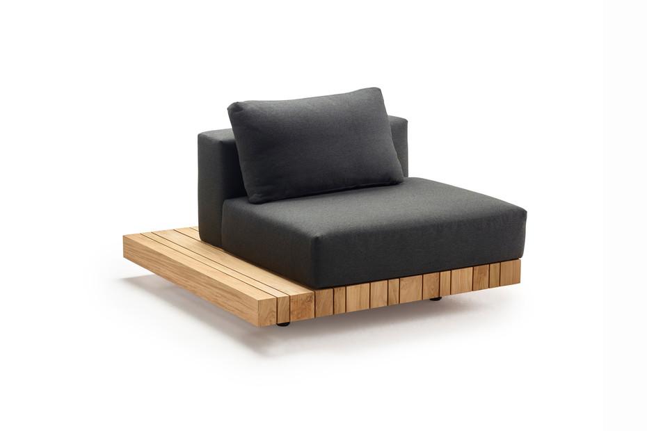 Plateau L-Modul Sitz/Rücken + Seitentisch